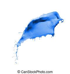 pintura azul, respingo