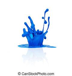 pintura azul, respingue