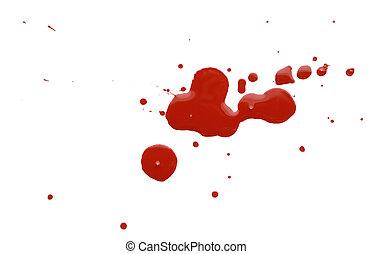 pintura, branca, gotas, backgro, vermelho