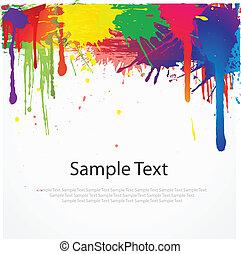 pintura, branca, splat, coloridos