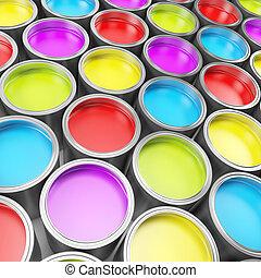 pintura, cubos