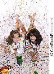 pintura, dos mujeres