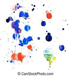 pintura, esguichos