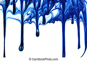 pintura, gotejando