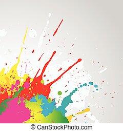 pintura, grunge, splat, fundo