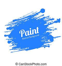 pintura, grunge, splat