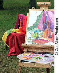 pintura, inacabado