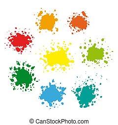 pintura, jogo, splat