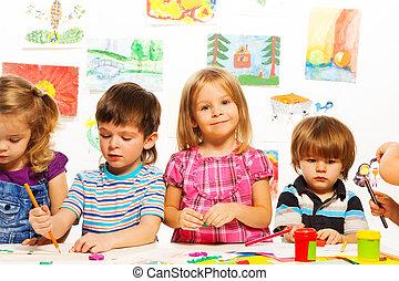 pintura, niños