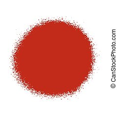 pintura, pulverizador, vermelho