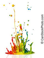 pintura, respingue, coloridos