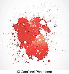 pintura, respingue, grunge, sangue