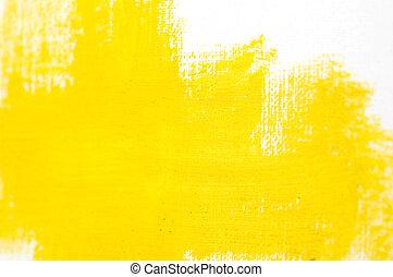 pintura, resumen, fondo amarillo