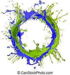 pintura, salpicar, colorido