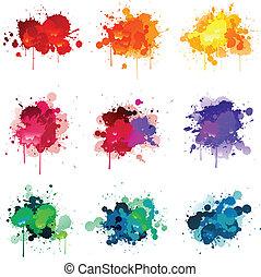 pintura, splat
