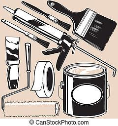 pintura, suministros