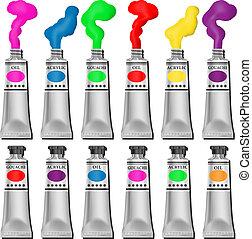 pintura, tubos