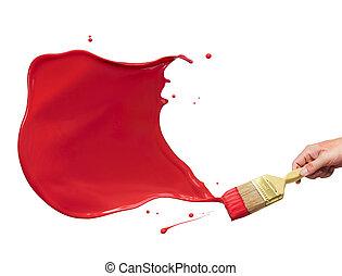 pintura vermelha, respingo