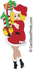 Pinup Girl Santa