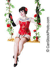 Pinup on Swing - A vintage inspired, burlesque pinup on a ...