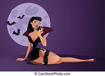 pinup, vampiro
