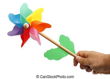 pinwheel, カラフルである