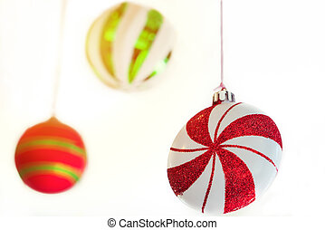 pinwheel and colorful ball mobile hanging on the ceiling