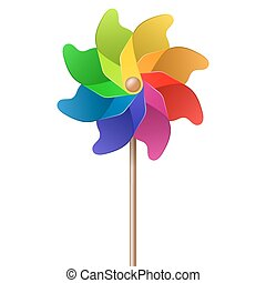 pinwheel, barwny