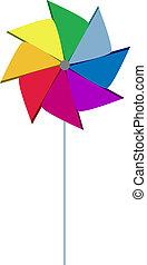 Pinwheel colorful like rainbow - Colorful pinwheel with...