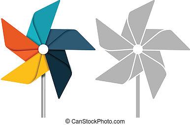 Pinwheel concept illustration.