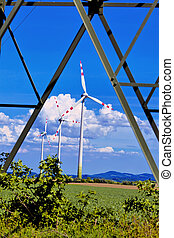 pinwheel of a wind power plant for electricity - pinwheel of...
