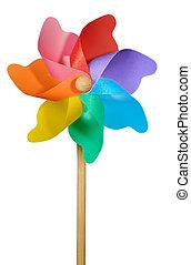 Pinwheel or Windmill on White - A child's pinwheel or...