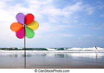 pinwheel, plage