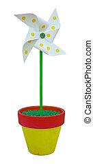 pinwheel, stykke legetøj, farvet