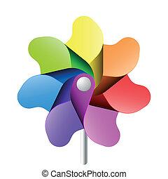 pinwheel, stykke legetøj