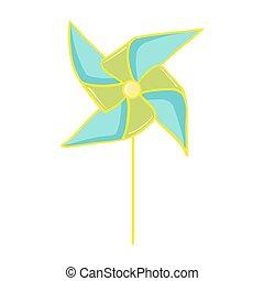 Pinwheel toy illustration