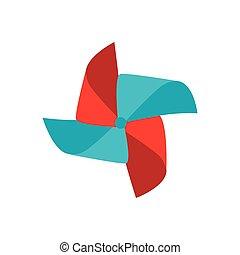 pinwheel wind toy, vector illustration
