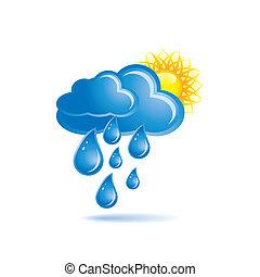 pioggia, e, sole