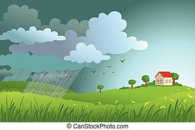 pioggia, venuta