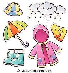 pioggia, vestiti
