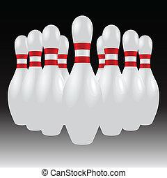 piolini, set, bowling