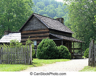 Pioneer Farm House - Early 19th century farm house in smoky ...