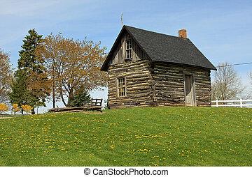 pionier, mittelwesten, blockhaus