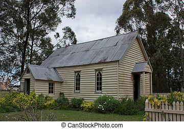 pionieri, 1890, vecchio, sydney, chiesa