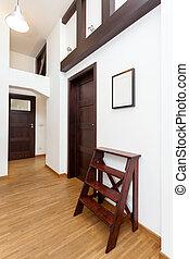 pionowy, korytarz, prospekt