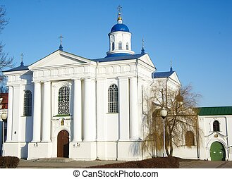 Piously-Uspensky Orthodox Church in Zhirovichy, Hrodno distr., Belarus, was completed in the 1671. In the village there is Uspensky Monastery.