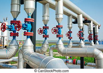 pipa, egyenes, olaj, gáz, rádiócső