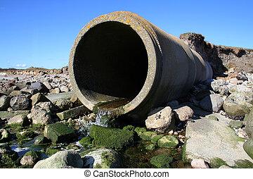 pipa, hulladék, szennyvíz