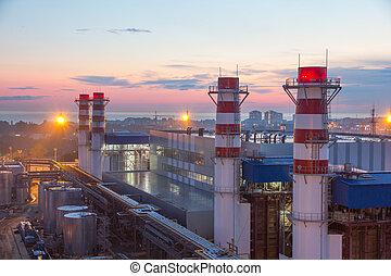 piparen, av, termisk, kraftverk