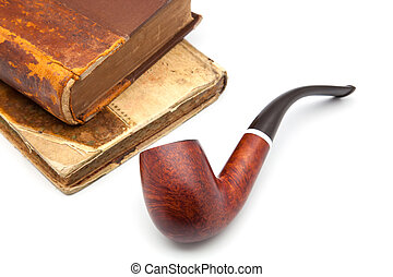 pipe and book